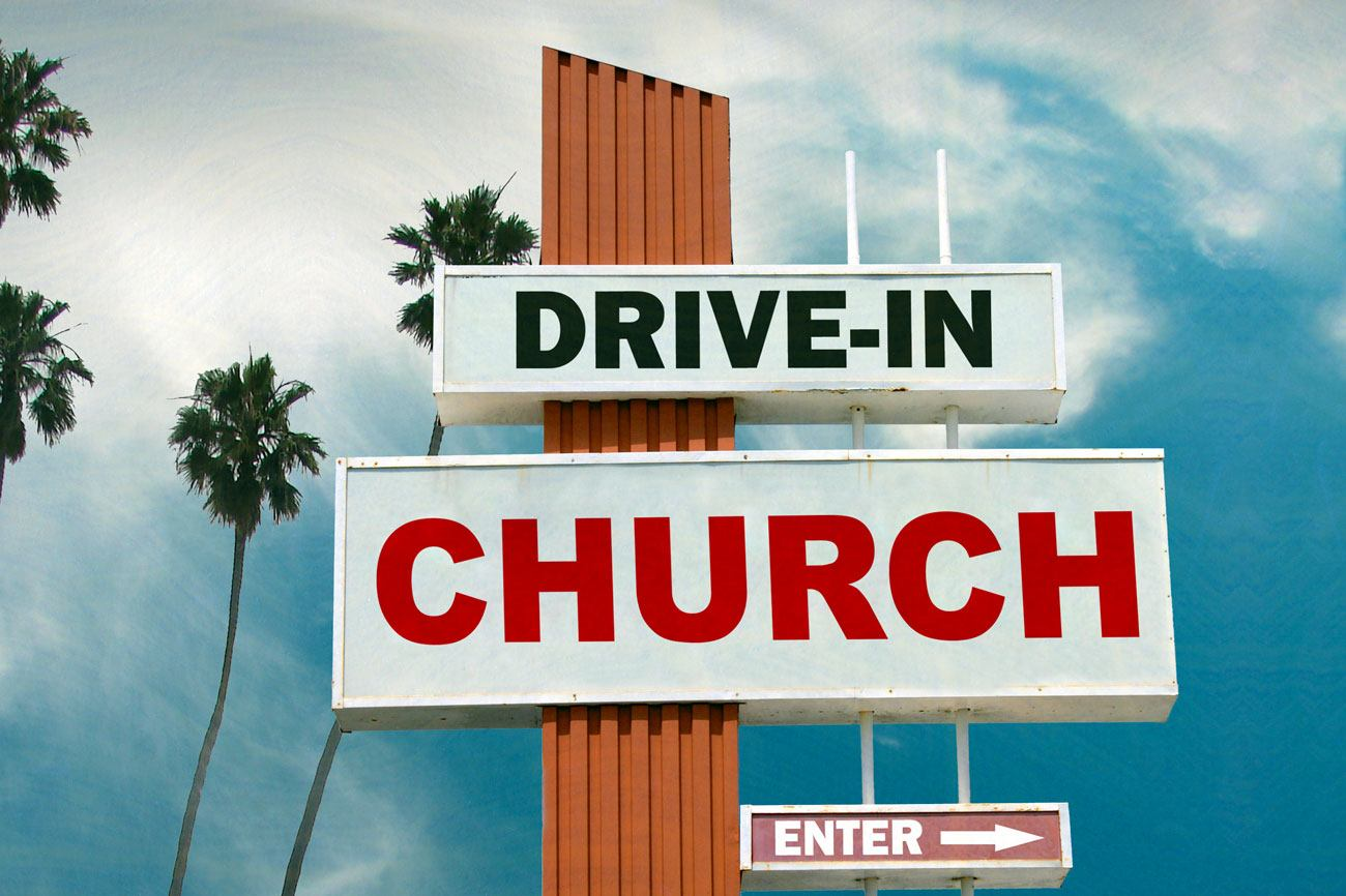 Drive-in Church Marquee